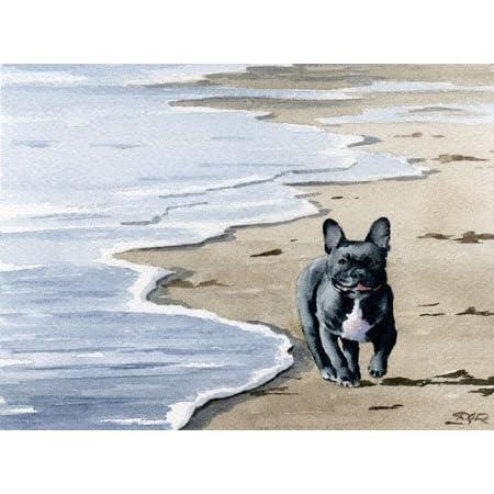 "Bulldog Abstract Watercolor Painting 11/"" x 14/"" Art Print by Artist DJ Rogers"