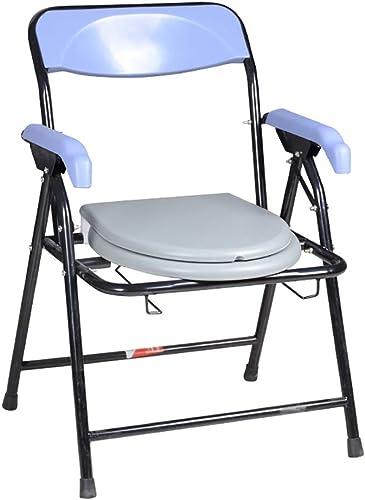 HSRG Chaise de Chevet Pliante, siège de Toilette Portable - Potty Chair Comfort, idéal pour Les Femmes Enceintes, Les Personnes agées et Les Personnes à mobilité réduite