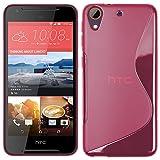 RT-TRADING HTC Desire 628 - TPU Schutzhülle S-Style S Design Hülle Schutz Cover Etui Hülle in Pink