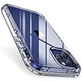 FLOVEME Compatible for iPhone 12 Pro Max Case, Clear Case Compatible for iPhone 12 Pro Max 6.7, Shock-Absorbing Scratch-Resistant Military Grade Protection, Soft TPU Edge+Hard PC Back