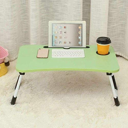 aycpg 60 x40 x28cm Bed Small Table Laptop Computer Table Bedroom With Desk Foldable College Student Dormitory Bed Tray Desk,Black (Color : Green)