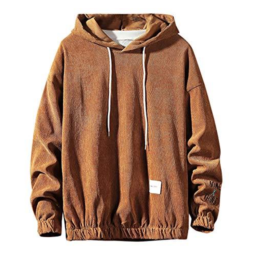 Solid Kapuzenpullover Herren für Pullover für Herren, Holeider Basic Kapuzen-Sweatshirt Herren Langarm Herbst Winter Hoodie Einfarbig Mode Casual Streetwear Große Größen