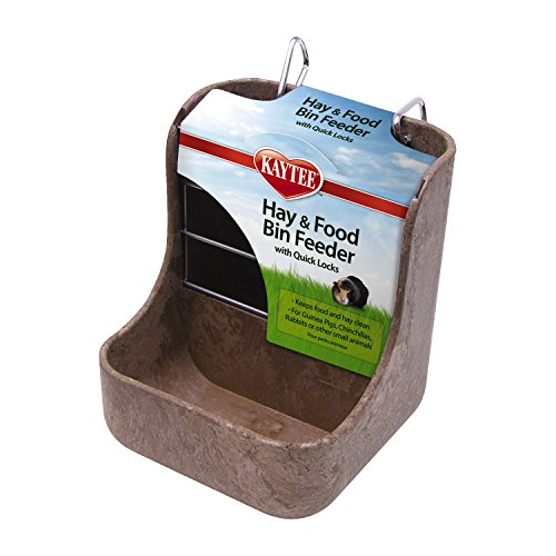 Kaytee Hay & Food Bin Feeder, Colors May Vary,5-3/4' long, 5-3/4' wide, 7' high