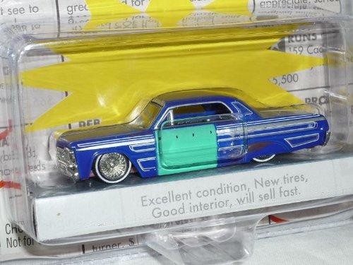Jada Chevrolet Chevy Impala 1964 Coupe Blau for Sale Scheunenfund Edition Oldtimer 1/60 1/64 Modellauto Modell Auto