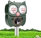 LEBANDWIT Ahuyentador de animales solar, repelente de gatos, repelente de animales, resistente al agua, para el jardín
