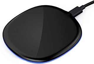 AOE Wireless Charger, 10W Ultra-Slim LED Flashes Qi Charging Pad, 10W Fast Charging for Galaxy S9/S9+S8/S8+/Note 9/8, 7.5W Fast Charging for iPhone Xs/Max/Xr/X/8/8 Plus, 5W All QI-Enabled Phones