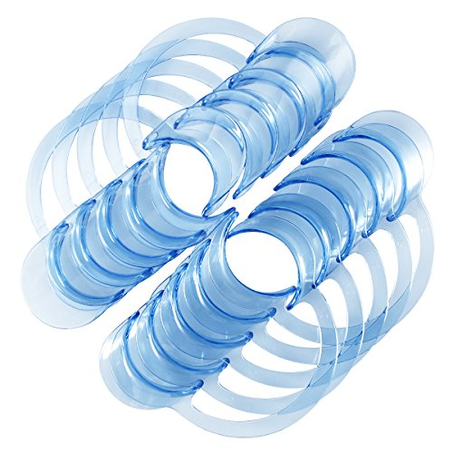 rosenice 20Pcs Wangenhalter Mundöffner für Zahnpflege und Party Spiel L (blau)