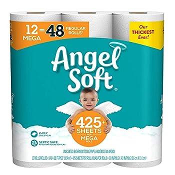 Angel Soft Toilet Paper 12 Mega Rolls 12 Rolls