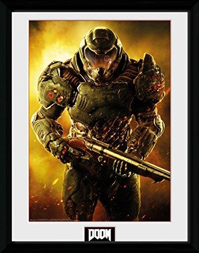 1art1 Doom - Marine Gerahmtes Bild Mit Edlem Passepartout | Wand-Bilder | Kunstdruck Poster Im Bilderrahmen 40 x 30 cm