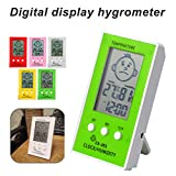 3-In-1 Indoor Hygrometer Thermometer Alarm Clock For Infant Room Temperature Humidity Monitoring, Celsius And Fahrenheit Optional, With A Smile/Unhappy Emotional Icon,