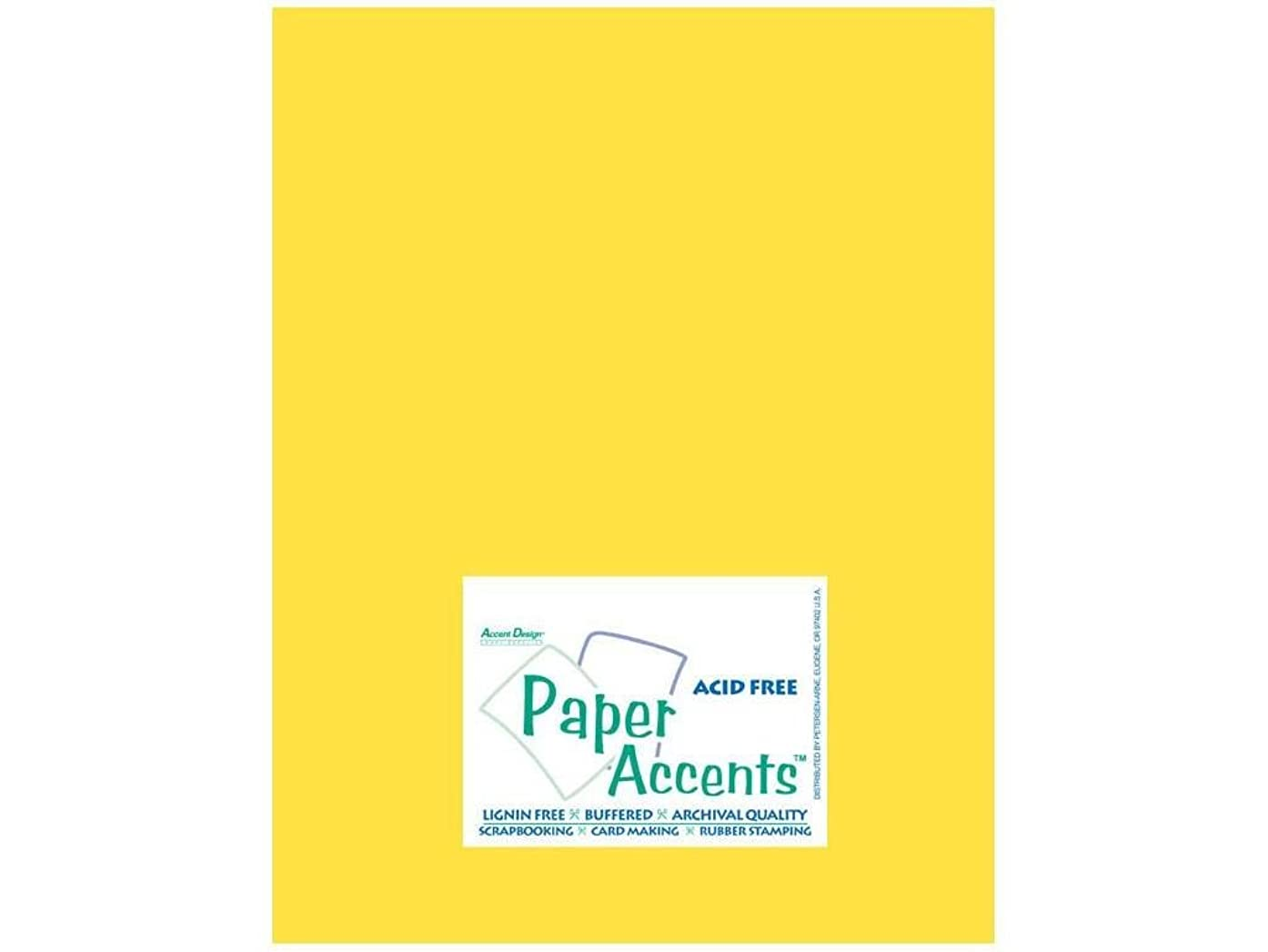 Accent Design Paper Accents ADPaperStash8.5x11Lemon Cdstk Stash Builder 8.5x11 65# Lemon