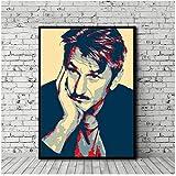 KONGZIR Sean Penn Poster Leinwand Malerei Drucken Wandkunst