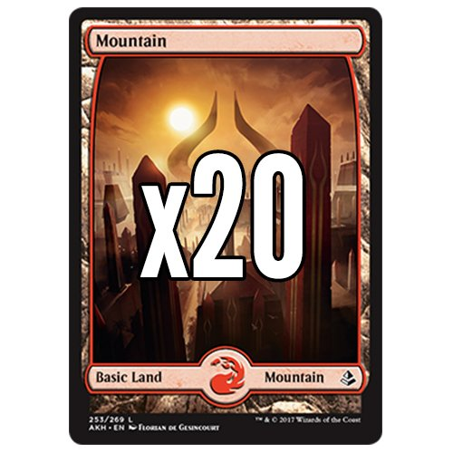 Cool Stuff Inc., LLC 20 Amonkhet Mountain #253 MTG Basic Full Art Land Lot