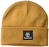 Timberland Men's Short Watch Cap with Woven Label, Wheat, 1 Size