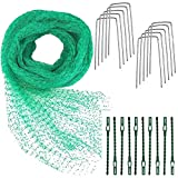 <span class='highlight'><span class='highlight'>BETOY</span></span> Anti Bird Protection Net, Green 4m x 10m Garden Plant Mesh Netting Fruit Trees Netting with Cable Ties and U-Shaped Garden Pegs 1.5x2.5 cm Holes