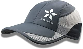 ZZEWINTRAVELER Quick Dry Cap Running Hats Lightweight Breathable Soft Adjustable Outdoor Sports Hat for Men, Women