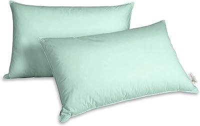 Pizuna luxuriöser Kissenbezug aus Baumwolle 35x50 Wasserminze, 100% langstapelige Baumwolle weiche Mako-Satin dekorativer Kissenbezug mit unsichtbarem Reißverschluss