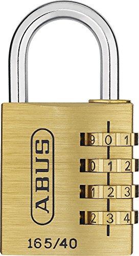 ABUS Zahlenschloss 165/40 - Vorhängeschloss aus Messing - mit individuell einstellbarem Zahlencode - 20361 - Level 4 - Messingfarben