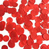 CTGVH Confeti de Papel, círculos de Tela, Fiesta, Confeti para Boda, Aniversario, cumpleaños, 2,5 cm, Papel, Rojo, 2,5 cm