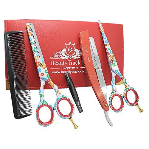Juego de tijeras de peluquería, kit de tijeras profesionales para adelgazar y cortar el pelo, tijeras para cortar la barba, para hombres, mujeres, niños, mascotas, hogar, peluquería, peluquería.