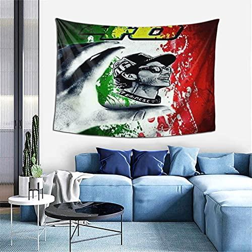 Valentino Rossi Tapices con arte naturaleza decoración del hogar para sala de estar, dormitorio, decoración psicodélico fondo pared