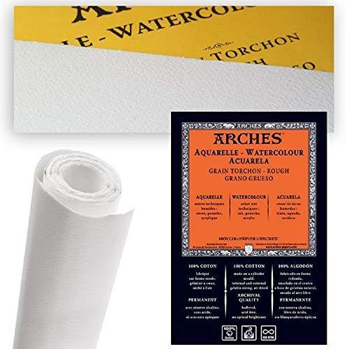Rollo Arches 1,13 X 9,14 mts. Papel Acuarela Grano Grueso 300 Grs.