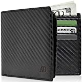 Vegan Leather Bifold Wallets For Men - Cruelty Free Non Leather Mens Wallet With ID Window RFID Gifts For Him