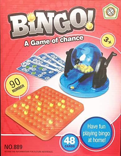 elaela Juego de Mesa ,Juego Bingo con 90 números y 48 cartones Gratis.