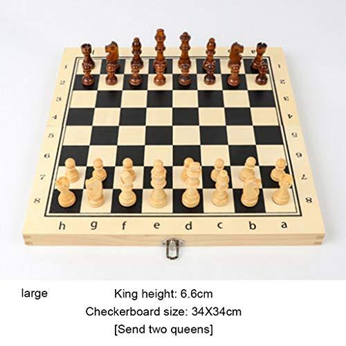 MISS YOU Schach Magnetisches Schachspiel aus Massivholz Set Klapp...