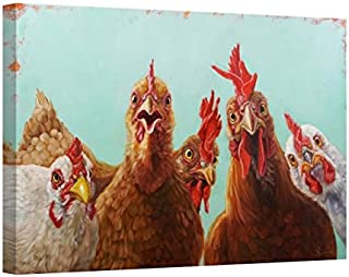 Easy Art Prints Lucia Heffernan's 'Chicken for Dinner' Premium Canvas Art 24 x 36