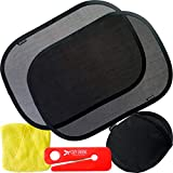 COZY GREENS Car Window Shade for Baby for Side Windows for Vehicle (3 Pack) – 21'x14' Car Shade - 80 GSM w/ 15s Film – Full UV Protection from Sun, Glare and UV Rays - Window Shade Baby