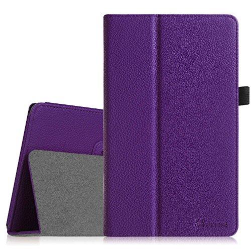 Fintie Odys Winpad V10 / Odys Windesk X10 Hülle Case - Slim Fit Folio Kunstleder Tastatur Ständer Schutzhülle Cover Tasche für Odys Winpad V10 2in1 / Odys Windesk X10 25,7 cm (10,1 Zoll) Convertible Tablet-PC, Violett
