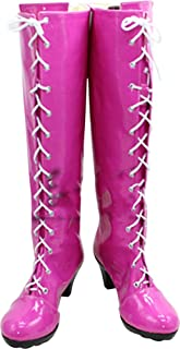 Whirl Cosplay Boots Shoes for Sailor Moon Sailor Saturn Pink