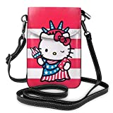 Goddess of Victory Hello Kitty - Bolso bandolera pequeño para mujer con ranuras para tarjetas de crédito