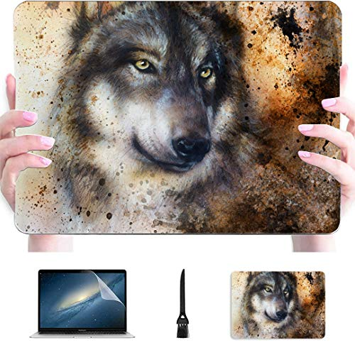 Macbook Pro 15 Accessories Alsatian Dog Painting Abstract Spots Plastic Hard Shell Compatible Mac Air 13' Pro 13'/16' Macbook Pro Protective Case Protective Cover For Macbook 2016-2020 Version
