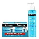 Neutrogena Hydro Boost Gel de Agua, Crema Hidratante Facial para Pieles Normales y Mixtas con Ácido Hialurónico, 2x50 ml + Hydo Boost Gel de Agua Limpiador Facial con Ácido Hialurónico, 200 ml