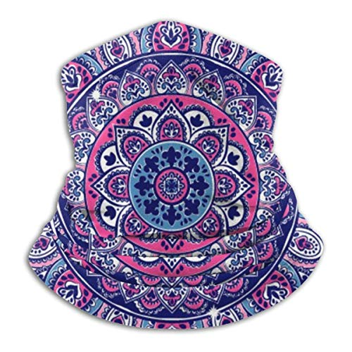 NA Ethnic Mandala handdoek, yogamat print nek warmer gaiter - windproof skimasker - koud weather gezicht motormasker