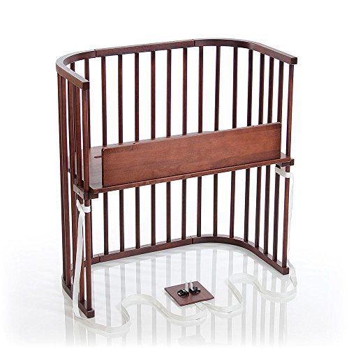 Sale!! babybay Bedside Sleeper 2019 Model (Deep Walnut Stained Finish)
