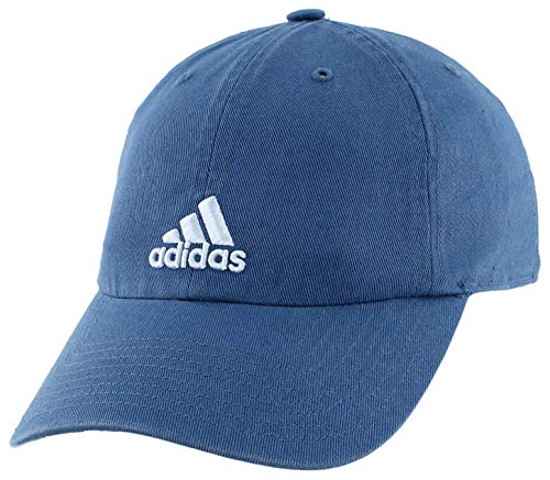 adidas Women's Saturday Relaxed Adjustable Cap, Core Blue/Easy Blue, ONE SIZE