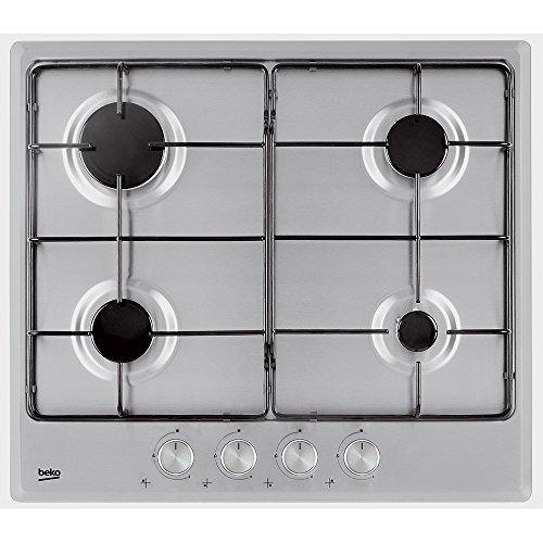 BEKO HIMG 64224 SX Plaque de cuisson à gaz finition...