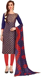 Ready to Wear Variant Colored Banarasi Fabric Heavy Embroidered Salwar Suit