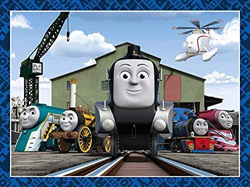 leomuzi - Puzle de 1000 Thomas tren Jigsaw clásico para niños, adolescentes y adolescentes de madera
