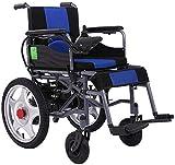 Hammer Silla de Ruedas eléctrica Plegable motorizado sillas de Ruedas eléctricas, Ultra-Ligero, Plegable 43 Libras, fácil de Llevar, Silla de Ruedas eléctrica con 360 ° Joystick