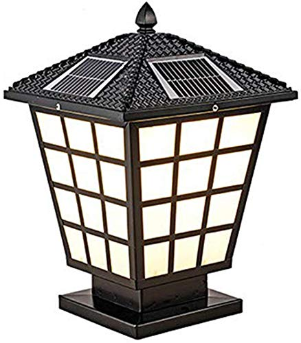HZWLF Solar LED Post Cap Lights,Outdoor Garden IP66 Waterproof Landscape Post Cap Lamp,Vintage Aluminum Garden Column Lamp for Wooden Posts,Deck,Patio,Fence,Yard,Balcony,