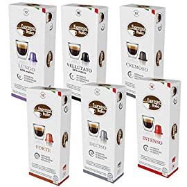Nespresso Compatible Capsules | Variety Pack 100 Coffee Pods |10 x 10 Pack | Espresso Italia