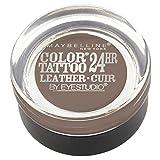MAYBELLINE - Eye Studio Color Tattoo Leather 24HR Cream Gel Eyeshadow 80 Creamy Beige - 0.14 oz. (4 g)