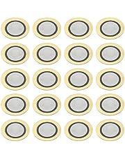 sourcing map Discos piezoeléctricos de 12 mm Pastilla acústica de Transductor, Zumbador de cerámico para Batería y Guitarra 20 unidades