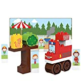 BIOBUDDI- Fire Truck Play Set, 20 Blocks Building Bloques de construcción, Multicolor (BB-0127)