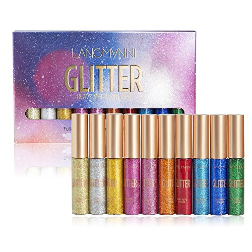 Shiny Heavy Metal Eyeliner Set 10 Stücke Wasserdicht Liquid Eyeliner Glitter Metallic Eyeliner