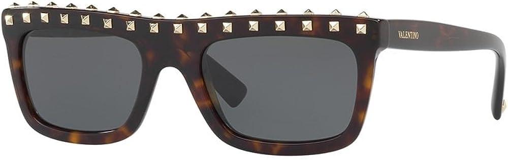Valentino, occhiali da sole da donna, montatura con borchie, marrone (havana/smoke) VA4010_Parent